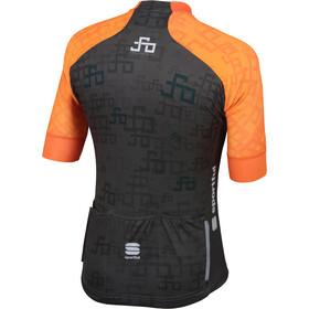 Sportful Sagan Logo Bodyfit Team Jersey Men orange sdr-green
